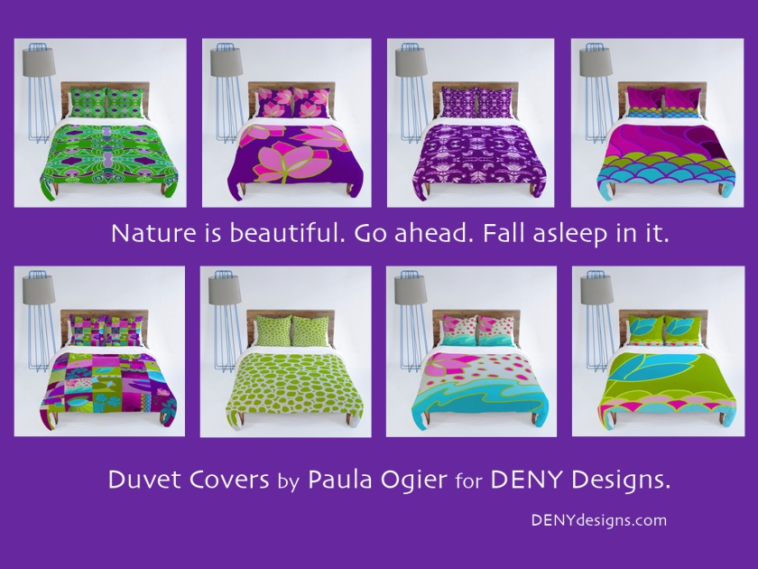 Nature inspired duvet covers