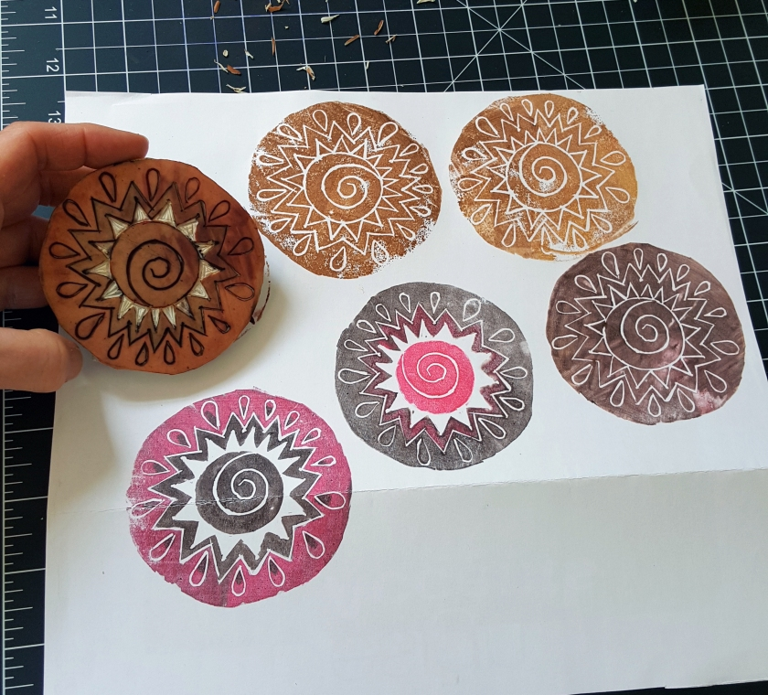 rubber stamp variations