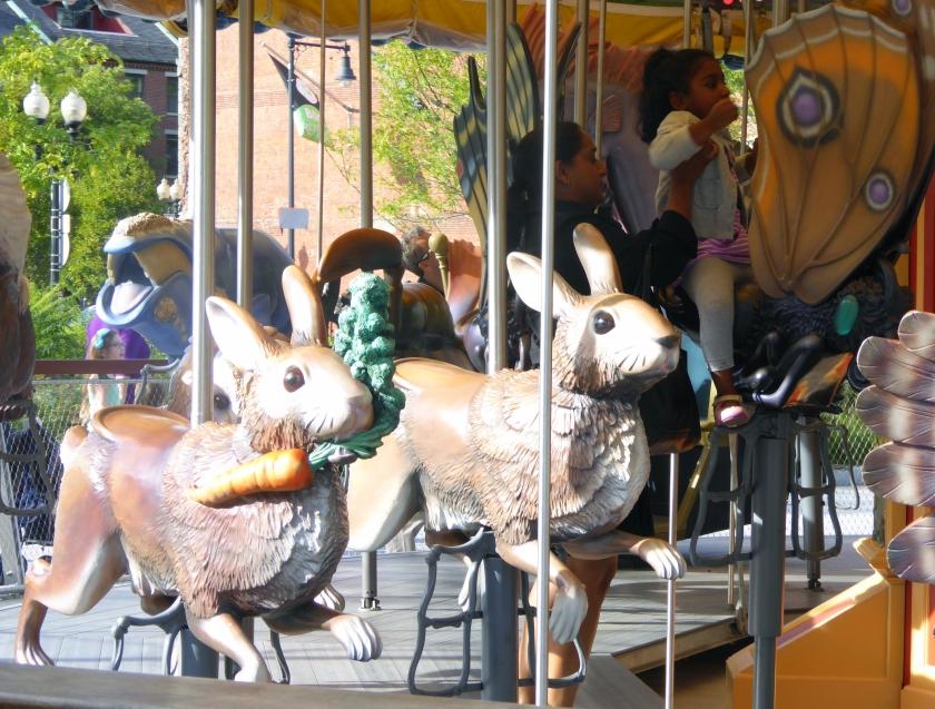 Greenway carousel rabbits