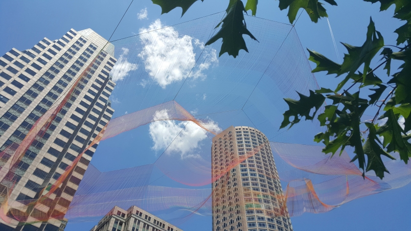 Janet Echelman Boston sculpture