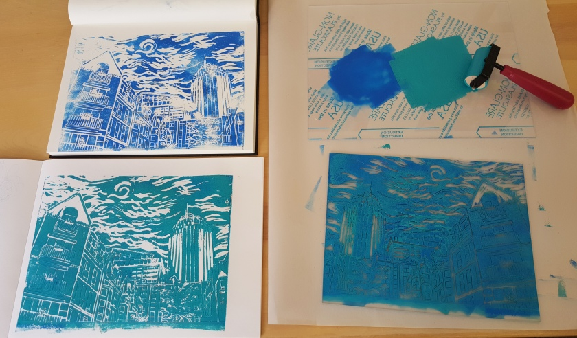 linoleum cut prints
