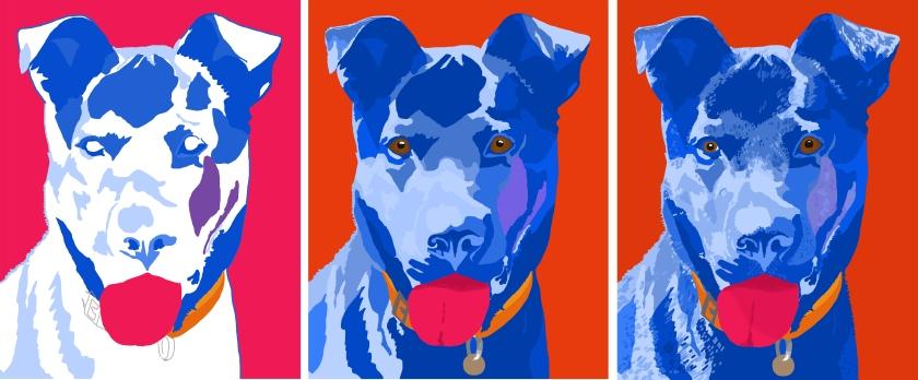 pet portrait in progress