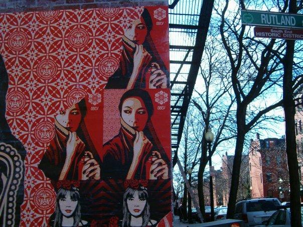 Shepard Fairey mural