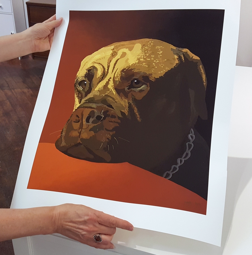Paula Ogier dog portrait