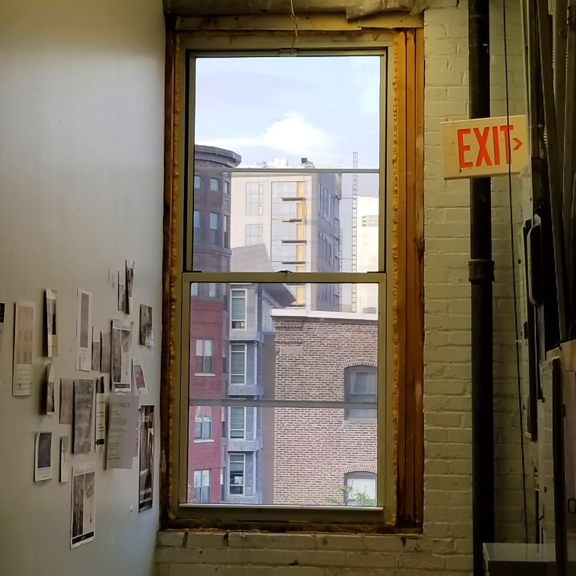 Hallway window view at 450